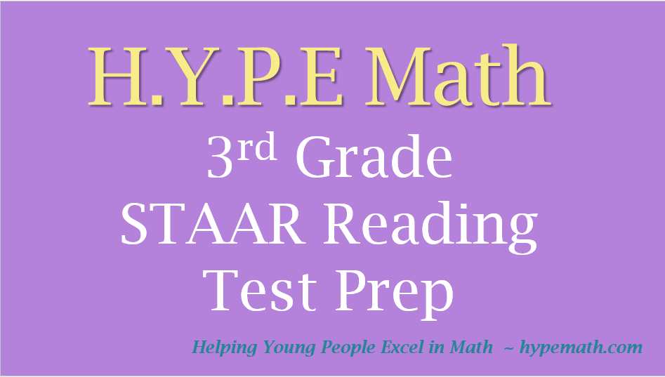 3rd Grade Reading Test Prep Workbook Example – HYPE Math