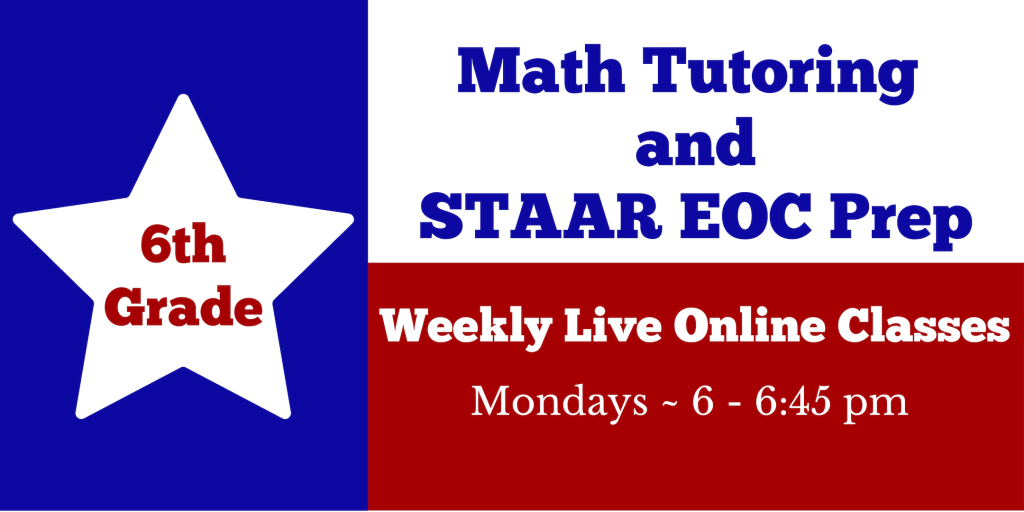 6th Grade Tutoring and STAAR Math Test Prep Class – HYPE Math